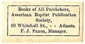 American Baptist Publications Society, Atlanta, Georgia (27mm x 13mm). Courtesy of S. Loreck.