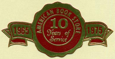 American Book Store, s.l. (63mm x 32mm, ca.1975). Courtesy of Donald Francis.