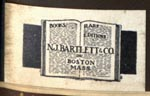 N.J. Bartlett & Co, Boston, Massachusetts (23mm x 13mm)