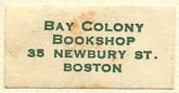 Bay Colony Bookshop, Boston, Massachusetts (26mm x 13mm)