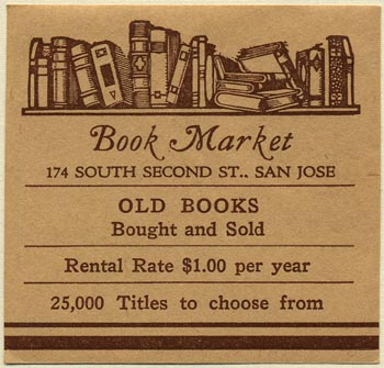 Book Market, San Jose, California (58mm x 56mm)