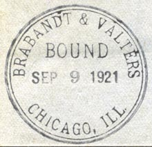 Brabandt & Valters [Binders], Chicago, Ill. (35mm dia., ca.1921)