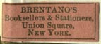 Brentano's Booksellers & Stationers, New York (23mm x 9mm)