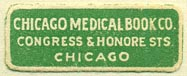 Chicago Medical Book Co., Chicago, Illinois (30mm x 12mm)