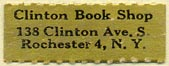 Clinton Book Shop, Rochester, NY (27mm x 10mm)