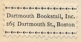 Dartmouth Bookstall, Boston, Massachusetts (26mm x 12mm)