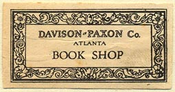 Davison-Paxon Co. [dept store], Atlanta, Georgia (42mm x 21mm). Courtesy of Donald Francis.