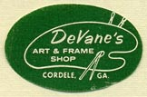 DeVane's Art & Frame Shop, Cordele, Georgia (26mm x 16mm)