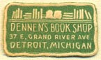 Dennen's Book Shop, Detroit, Michigan (23mm x 13mm)