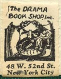 The Drama Book Shop, New York, NY (19mm x 25mm, after 1933)