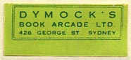 Dymock's Book Arcade, Sydney, Australia (29mm x 13mm). Courtesy of Donald Francis.