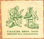 Fireside Book Shop, Chestnut Hill, Pennsylvania (26mm x 23mm, after 1929). Courtesy of Robert Behra.
