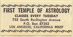 First Temple of Astrology, Los Angeles, California (50mm x 25mm)