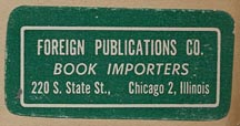 Foreign Publications Co., Book Importers, Chicago, Illinois.