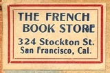 The French Book Store, San Francisco, California (25mm x 16mm, ca.mid 20th c.).
