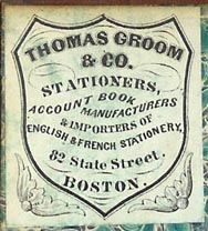 Thomas Groom & Co, Boston (30mm x 35mm, ca.1885)