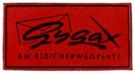 Gygax, [Zurich?] (32mm x 17mm, ca.1937). Courtesy of R. Behra.