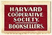 Harvard Co�perative Society, Booksellers, Cambridge, Massachusetts (29mm x 19mm)