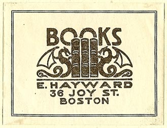 E. Hayward, Books, Boston, Massachusetts (51mm x 41mm)