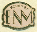 HNM -- Hertzberg New Method [binder], Jacksonville, Illinois (19mm x 16mm)