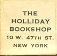The Holliday Bookshop, New York (20mm x 19mm, after 1920)
