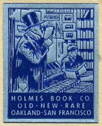 Holmes Book Co., Oakland & San Francisco (23mm x 29mm, ca.?)