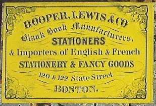 Hooper, Lewis & Co, Boston (50mm x 35mm, ca.1874)