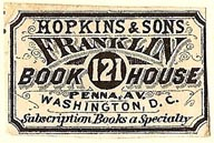 Hopkins & Sons, Franklin Book House, Washington, DC (30mm x 19mm). Courtesy of S. Loreck.