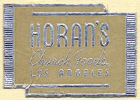 Horan's Church Goods, Los Angeles (33mm x 24mm). Courtesy of Donald Francis.