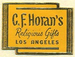 C.F. Horan's Religious Gifts, Los Angeles, California (24mm x 18mm)
