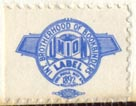 International Brotherhood of Bookbinders (21mm x 16mm, ca.1957). Courtesy of R. Behra.
