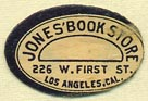 Jones' Book Store, Los Angeles, California (22mm x 15mm)