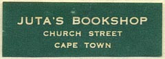 Juta's Bookshop, Cape Town, South Africa (39mm x 14mm). Courtesy of Donald Francis.