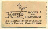 Kay's Books and Stationery, Santa Monica, California (26mm x 16mm)