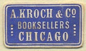 A. Kroch & Co, Booksellers, Chicago, Illinois (27mm x 15mm)