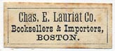 Charles E. Lauriat Co., Importers & Booksellers, Boston (26mm x 11mm)