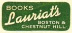 Lauriat's Books, Boston, Massachusetts (23mm x 10mm)
