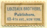 Loizeaux Brothers, Publishers, New York, NY (25mm x 15mm)