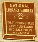 National Library Bindery Co., [several locations] (19mm x 20mm, after 1928). Courtesy of Robert Behra.
