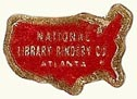 National Library Bindery Co.,  Atlanta, Georgia (20mm x 15mm). Courtesy of S. Loreck.