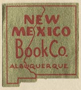 New Mexico Book Co., Albuquerque, New Mexico (26mm x 28mm).