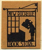 New Rochelle Book Store, New Rochelle, New York (22mm x 27mm). Courtesy of Donald Francis.