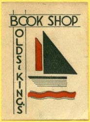 Olds & King's Book Shop, s.l. (30mm x 40mm). Courtesy of Lewis Jaffe.