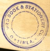 Oxford Book & Stationery Co., Simla, India  (26mm dia.)