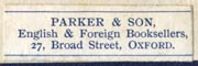 Parker & Son, Oxford (29mm x 9mm)