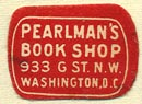Pearlman's Book Shop, Washington, DC (20mm x 15mm). Courtesy of Donald Francis.
