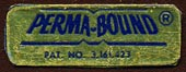 Perma-Bound Books, Jacksonville, Illinois (27mm x 10mm). Courtesy of Donald Francis.