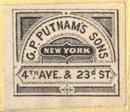 G.P. Putnam's Sons, New York, NY (20mm x 17mm, ca. 1875). Courtesy of Robert Behra.