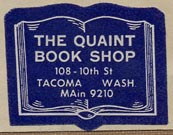 The Quaint Book Shop, Tacoma, Washington (27mm x 22m).