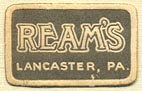 Ream's, Lancaster, Pennsylvania (22mm x 14mm). Courtesy of Donald Francis.